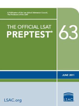 The Official LSAT PrepTest 63: (June 2011 LSAT)