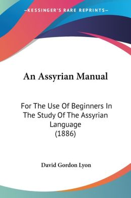 An Assyrian Manual