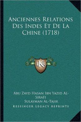 Anciennes Relations des Indes et de la Chine