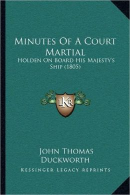 Minutes Of A Court Martial