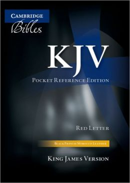 KJV Pocket Reference Black French Morocco thumb-indexed KJ243:XRI