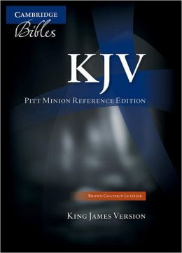 KJV Pitt Minion Reference Brown Goatskin KJ446:X