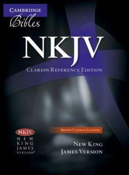 NKJV Clarion Reference Brown Calfskin NK485:X