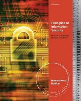 Principles of Information Security. Michael E. Whitman