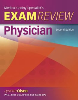 Medical Coding Specialists's Exam Review-Physician (Book Only)