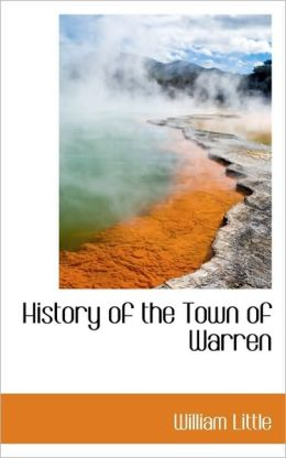 History Of The Town Of Warren