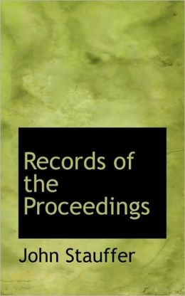 Records Of The Proceedings