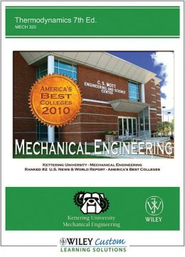 Thermodynamics 7th Edition for Kettering University