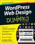 Book Cover Image. Title: WordPress Web Design For Dummies, Author: Lisa Sabin-Wilson
