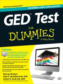 GED Test For Dummies: with Online Practice Tests