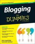 Book Cover Image. Title: Blogging For Dummies, Author: Amy Lupold Bair