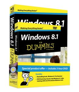 Windows 8.1 For Dummies Book + DVD Bundle