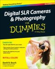 Book Cover Image. Title: Digital SLR Cameras and Photography For Dummies, Author: David D. Busch