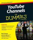 Book Cover Image. Title: YouTube Channels For Dummies, Author: Rob Ciampa