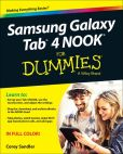 Book Cover Image. Title: Samsung Galaxy Tab 4 NOOK For Dummies, Author: Corey Sandler