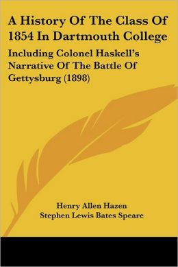A History Of The Class Of 1854 In Dartmouth College