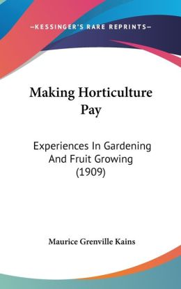 Making Horticulture Pay
