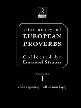 Dictionary of European Proverbs