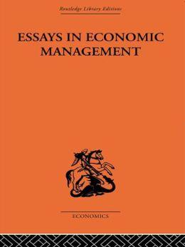 Essays in Economic Management