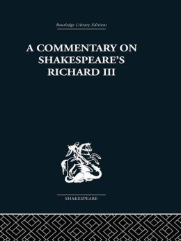 Commentary on Shakespeare's Richard III