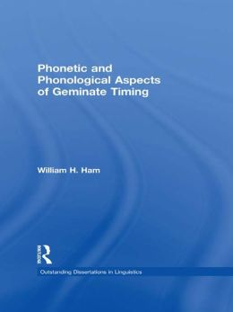 Phonetic and Phonological Aspects of Geminate Timing