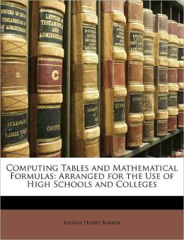 Computing Tables And Mathematical Formulas