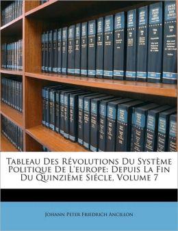 Tableau Des Rvolutions Du Systme Politique de L'Europe: Depuis La Fin Du Quinzime Sicle, Volume 7