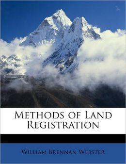 Methods Of Land Registration