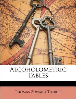 Alcoholometric Tables