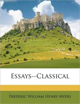 Essays--Classical