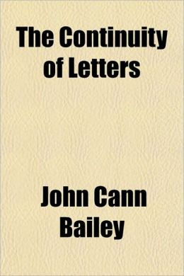 The Continuity of Letters