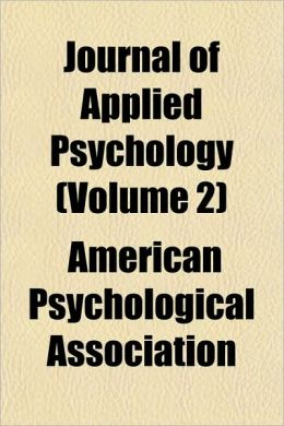 Journal of Applied Psychology (Volume 2)