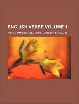 English Verse Volume 1