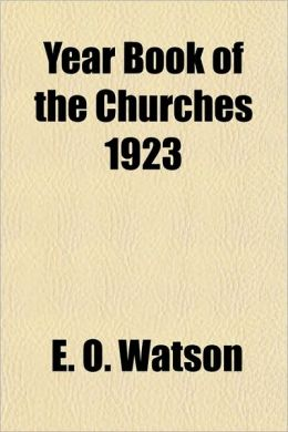 Year Book of the Churches 1923