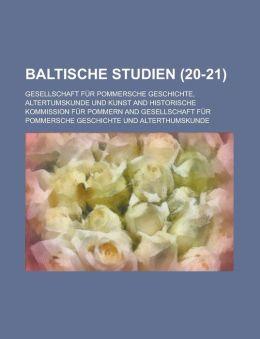 Baltische Studien (20-21)