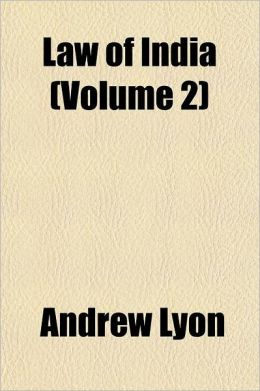 Law of India Volume 2