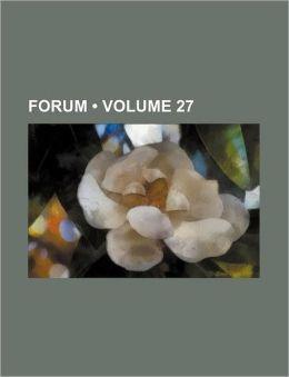 Forum (Volume 27)