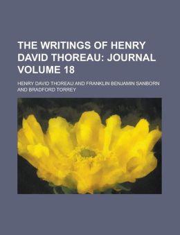 The Writings of Henry David Thoreau Volume 18