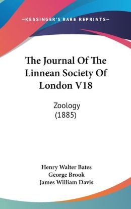 The Journal Of The Linnean Society Of London V18