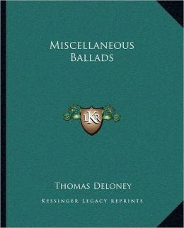 Miscellaneous Ballads