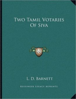 Two Tamil Votaries Of Siva