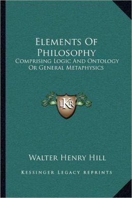 Elements Of Philosophy