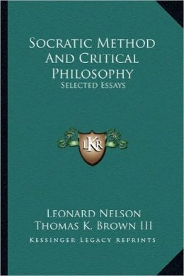 Socratic Method And Critical Philosophy: Selected Essays