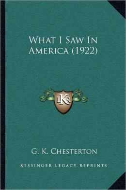 What I Saw in America (1922)