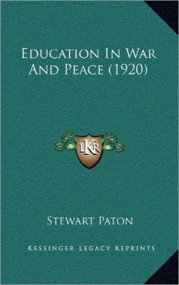 Education In War And Peace (1920)
