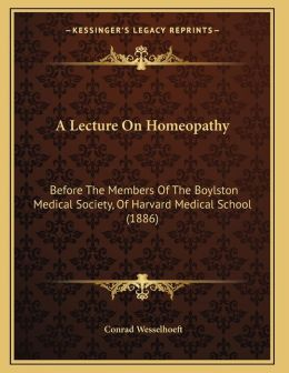 A Lecture On Homeopathy