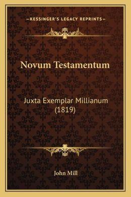 Novum Testamentum: Juxta Exemplar Millianum (1819)