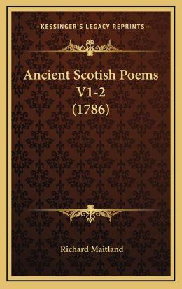 Ancient Scotish Poems V1-2 (1786)
