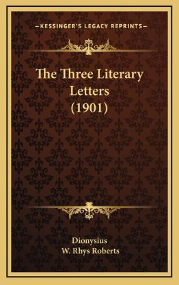 The Three Literary Letters (1901)