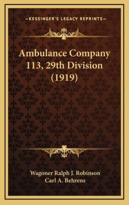 Ambulance Company 113, 29th Division (1919)